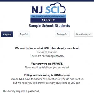 Survey Page on Platform